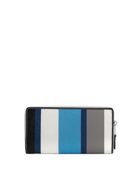 Bazar Contza Striped Leather Wallet