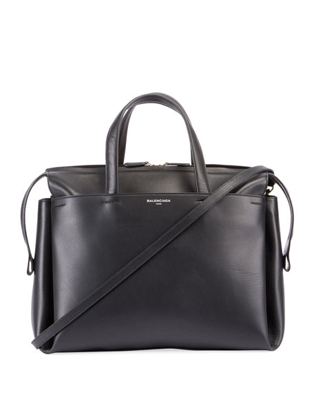 Balenciaga Portfolio Sac AJ Leather Bag, Black
