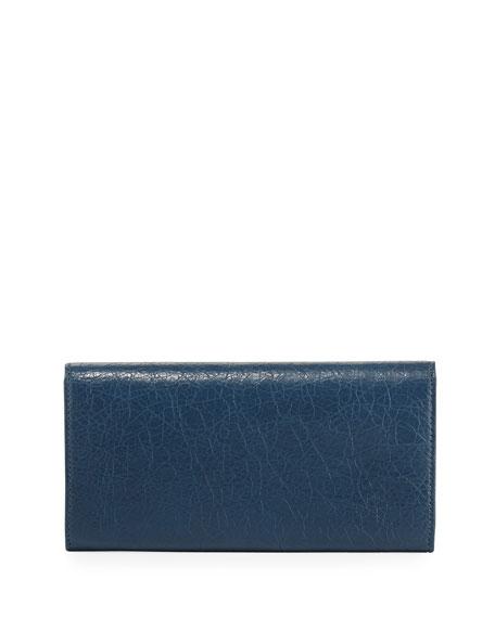 Money City Leather Clutch Bag