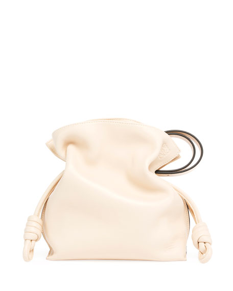 Flamenco Knot Leather Bucket Bag
