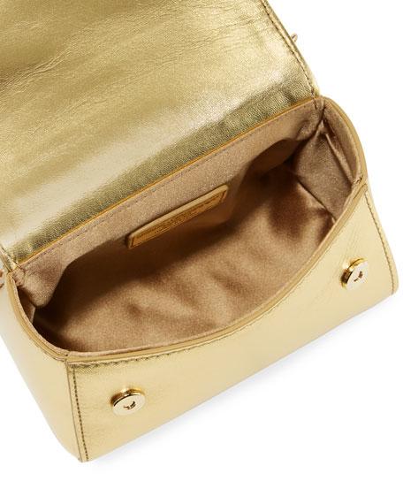 Girls' Metallic Leather DG Top-Handle Shoulder Bag