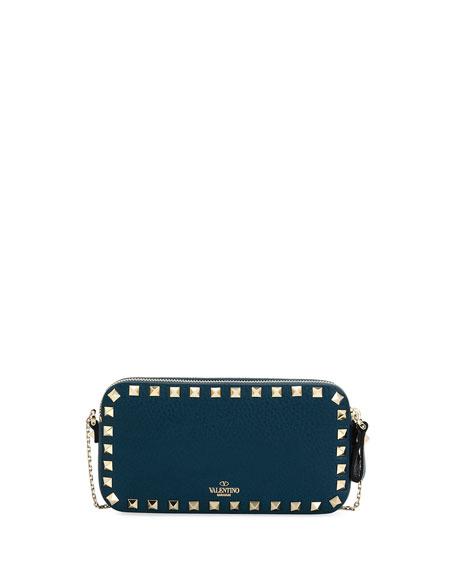 Rockstud Small Chain Shoulder Bag, Blue