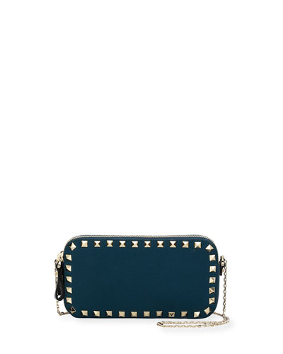 Rockstud Small Chain Shoulder Bag, Blue