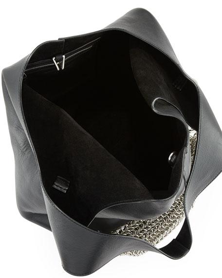 Genesis Box Chain Hobo Bag, Black