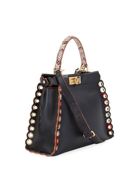 Peekaboo Medium Leather Satchel Bag