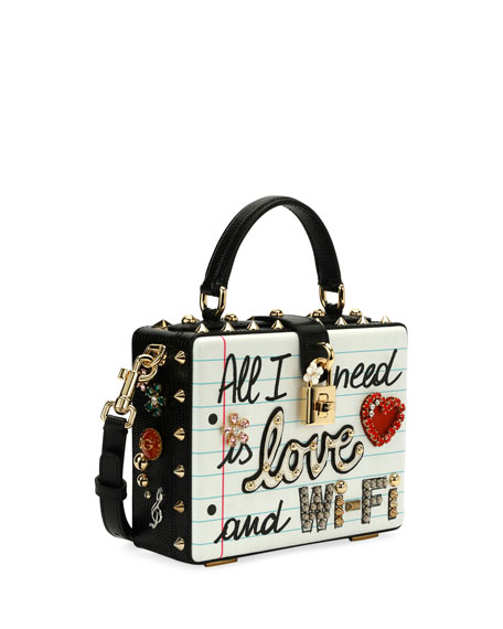 "Dolce Box ""All I Need is Love & Wi-Fi"" Bag"