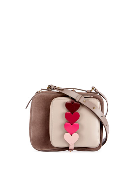 The Stack Camera Bag with Heart Links, Light Brown