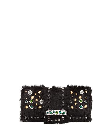 Bejeweled Cavallino & City Calf Shoulder Bag