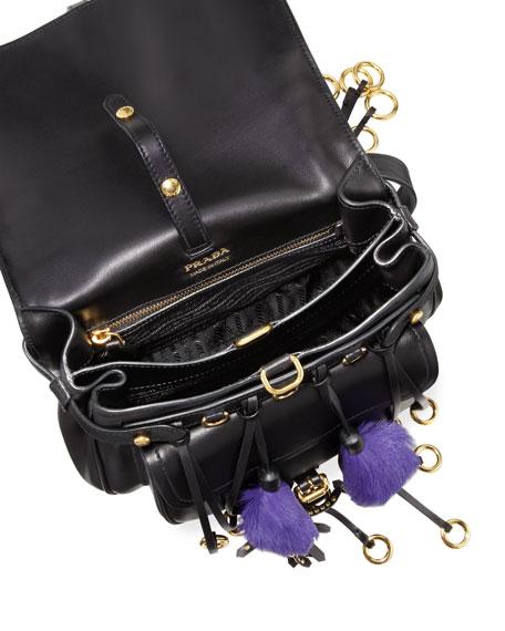 Corsaire Calf Leather Fringe Shoulder Bag