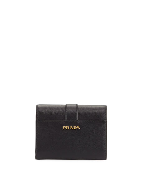 Cahier Saffiano French Flap Wallet