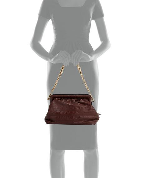 Quilted Frame Chain Shoulder Bag