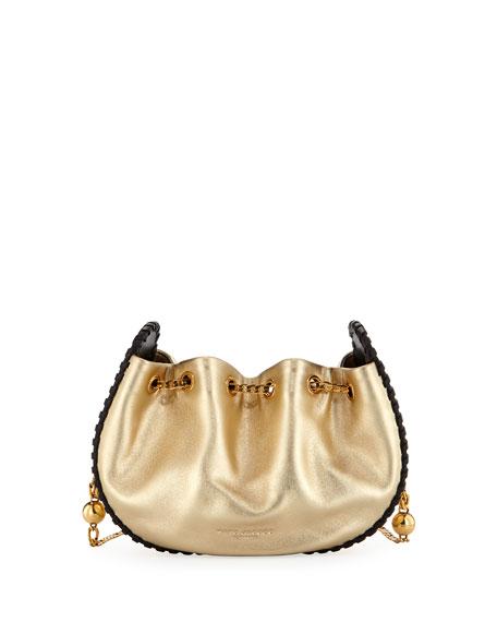 Sway Metallic Whipstitch Crossbody Bag