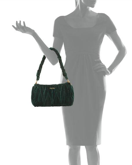 Velvet Matelasse Shoulder Bag