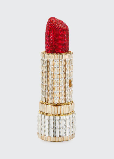 Seductress Crystal Lipstick Clutch Bag