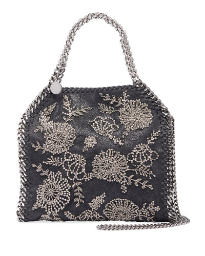 Falabella Mini Beaded Flower Tote Bag