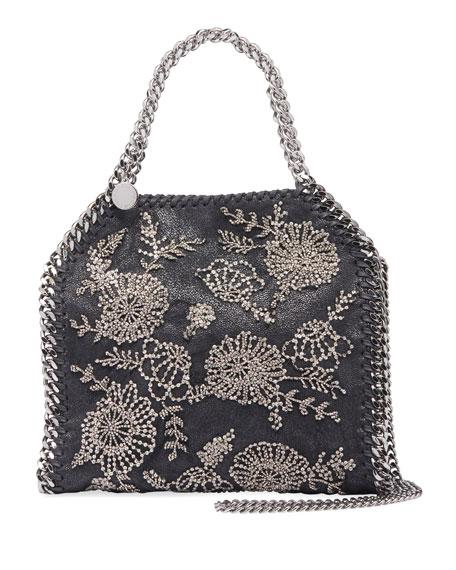 Falabella Mini Beaded Flower Tote Bag