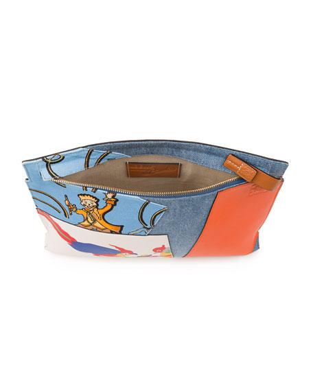 T Pouch Patchwork Clutch Bag