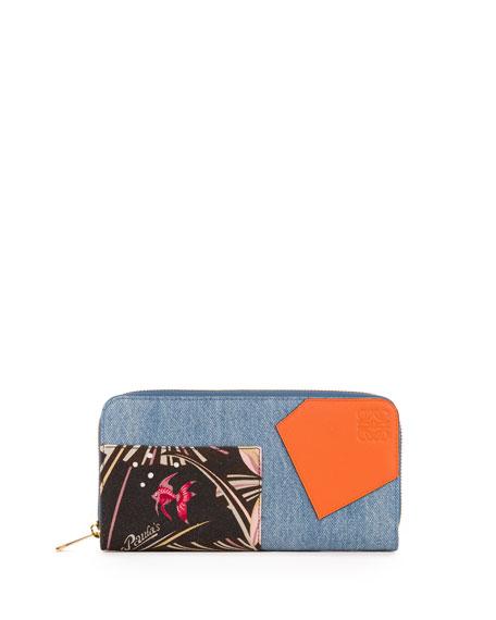 Puzzle Patchwork Zip-Around Wallet