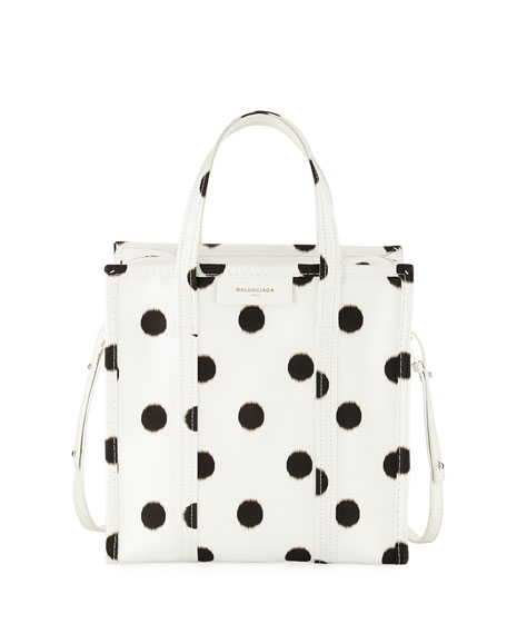 Bazar Shopper Small AJ Polka Dot Tote Bag