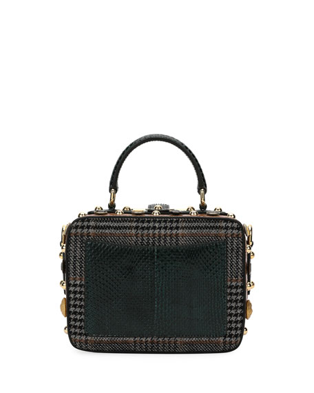Dolce Soft Plaid Top-Handle Bag