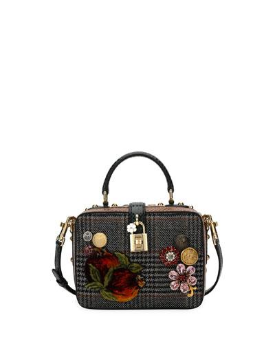 Dolce Soft Plaid Top-Handle Bag