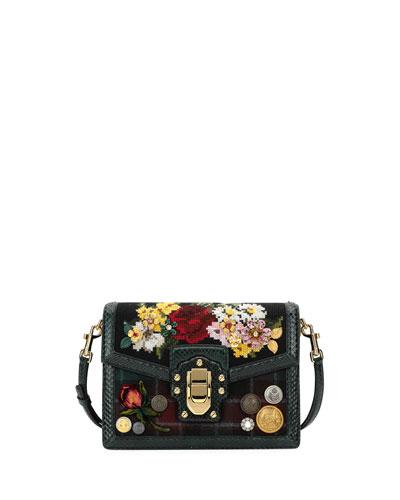 Lucia Floral Needlepoint Shoulder Bag