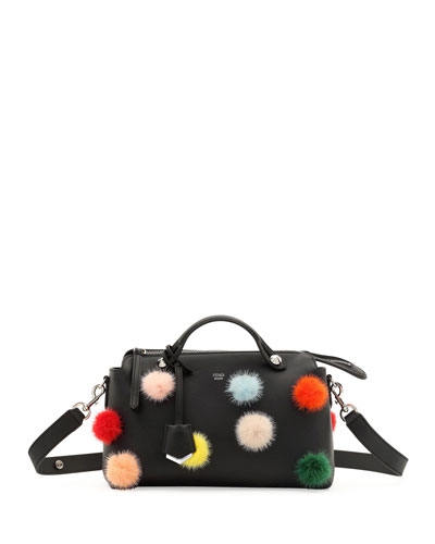 By the Way Medium Mink Pompom Satchel Bag