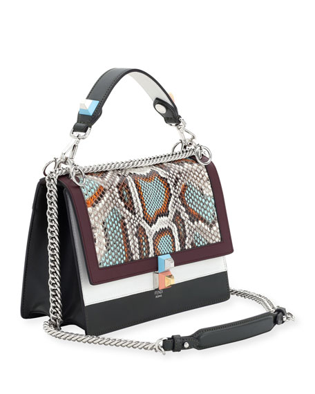 c876c0bbfa Fendi Kan I Python   Leather Shoulder Bag