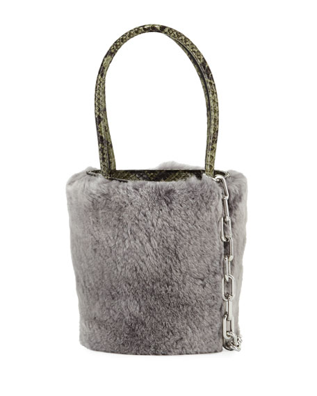 Roxy Mini Fur Bucket Bag
