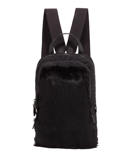 Tessuto New Fur Backpack, Black