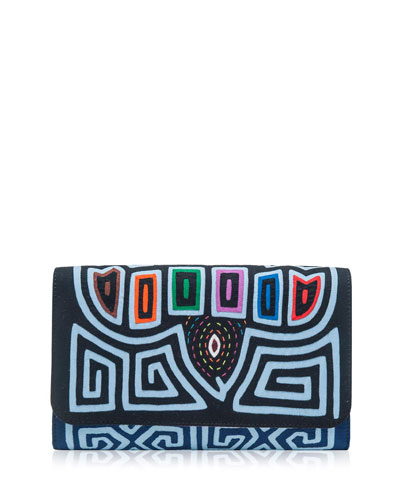 Diag Morro Embroidered Clutch Bag, Multi
