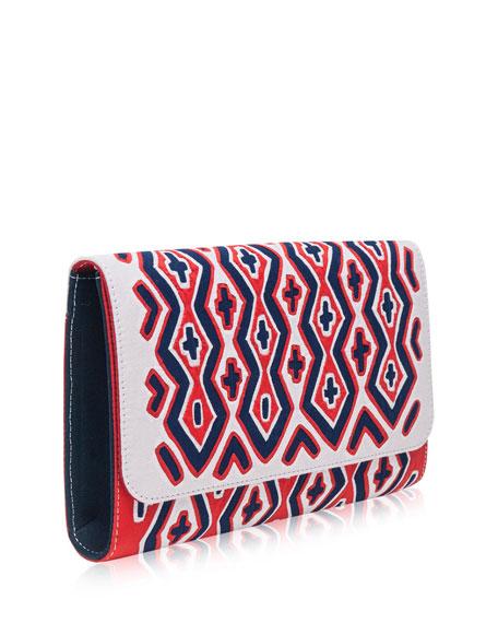 Puruwat Kinli Embroidered Clutch Bag, Multi