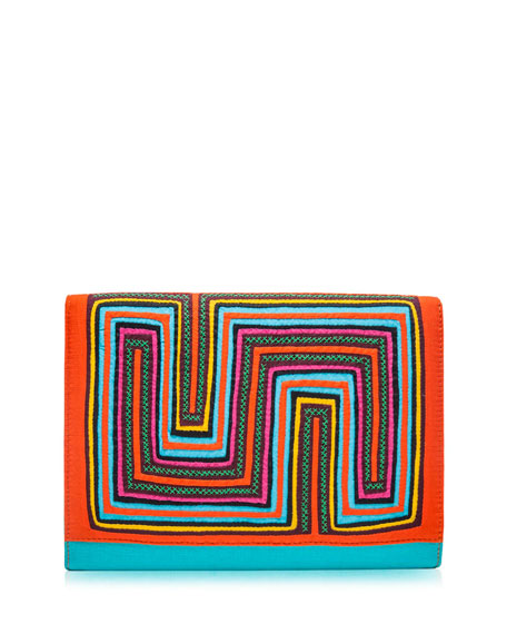 Tutsowale Embroidered Clutch Bag, Multi