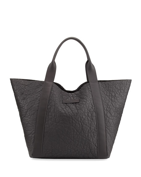Reversible Leather/Felt Tote Bag