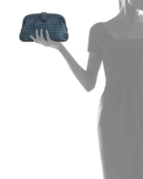 Lauren Intrecciato Woven Snakeskin Clutch Bag