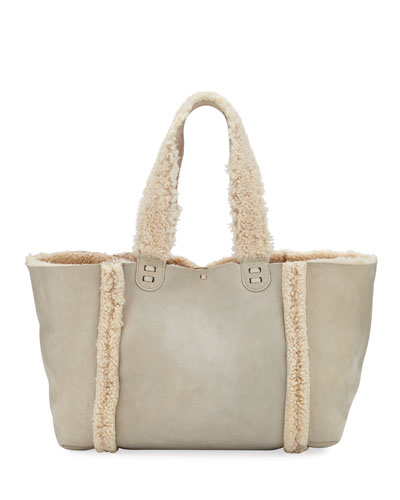 Ithaca Shearling-Lined Tote Bag
