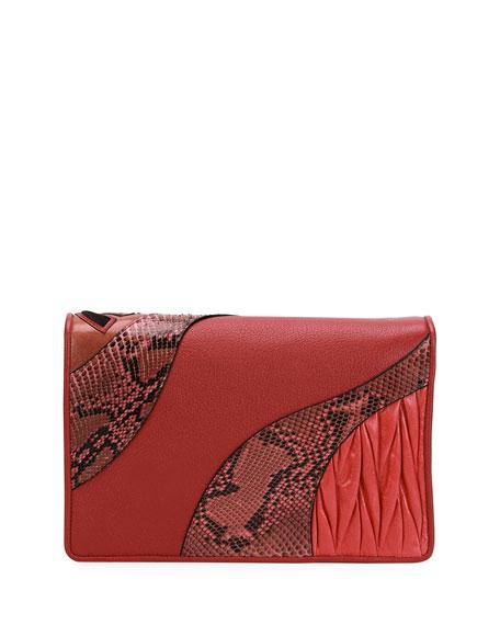 Patchwork Leather & Python Clutch Bag