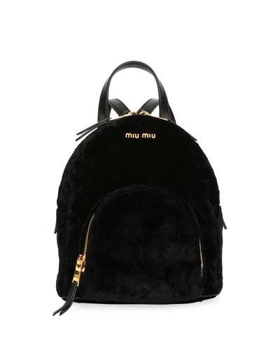 Velvet Zip-Around Backpack