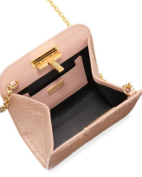 Cosmo Python Small T Lock Shoulder Bag
