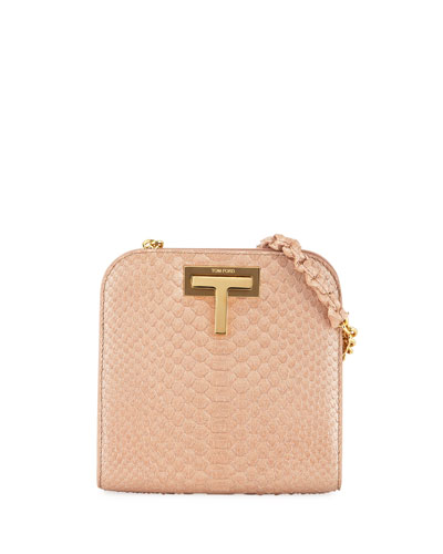 Cosmo Python Small T Lock Shoulder Bag
