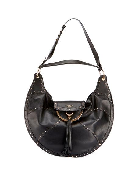 Glove Patch Leather Shoulder Bag