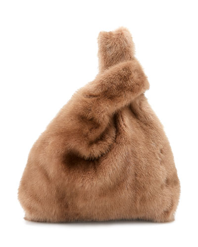 Furrissima Mink Fur Bag, Brown