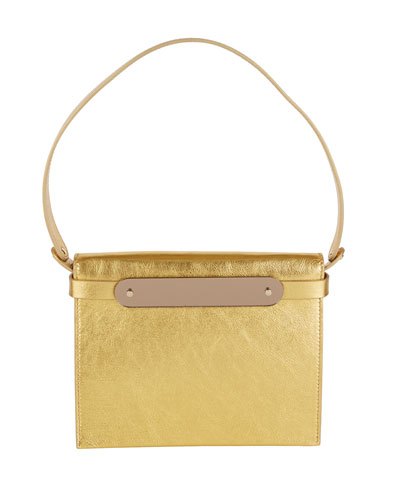 Candy Metallic Leather Top-Handle Bag