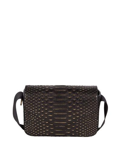 Melissa Python Crossbody Bag