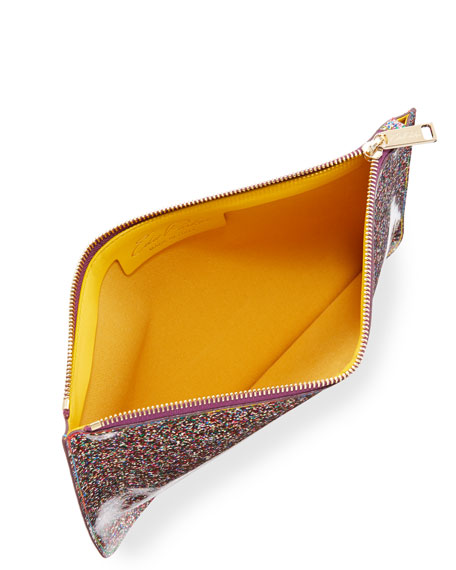 Glittered Zip-Top Pouch Bag