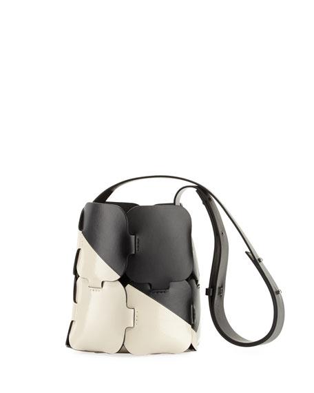 16#01 Patchwork Two-Tone Mini Hobo Bag