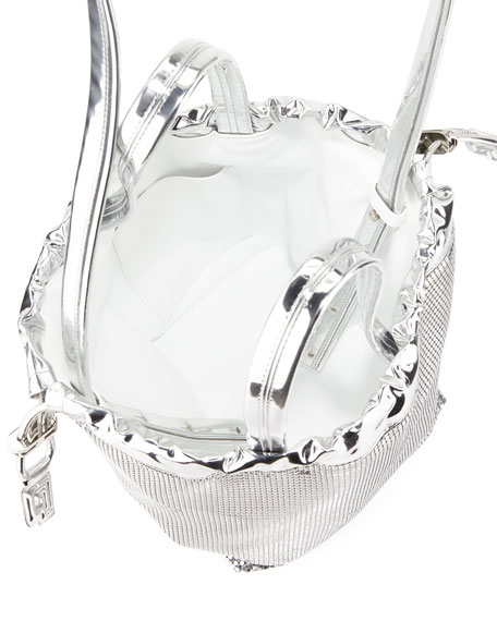 Sequined Medium Pouch Bucket Bag