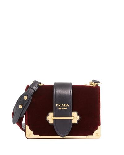 Cahier Small Velvet Shoulder Bag
