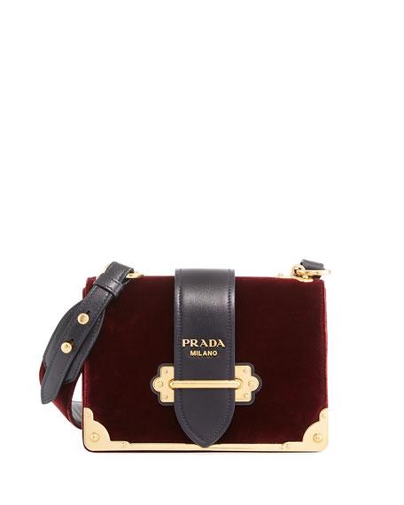 a61e13c88312 Prada Cahier Small Velvet Shoulder Bag