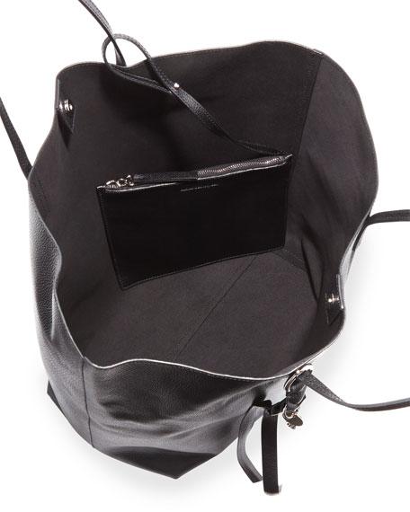 a1c520b50f Alexander McQueen Skull Open Leather Shopper Tote Bag